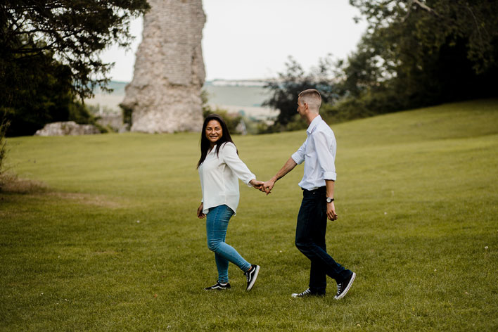 Steyning Engagement Photography Bramber Castle 05