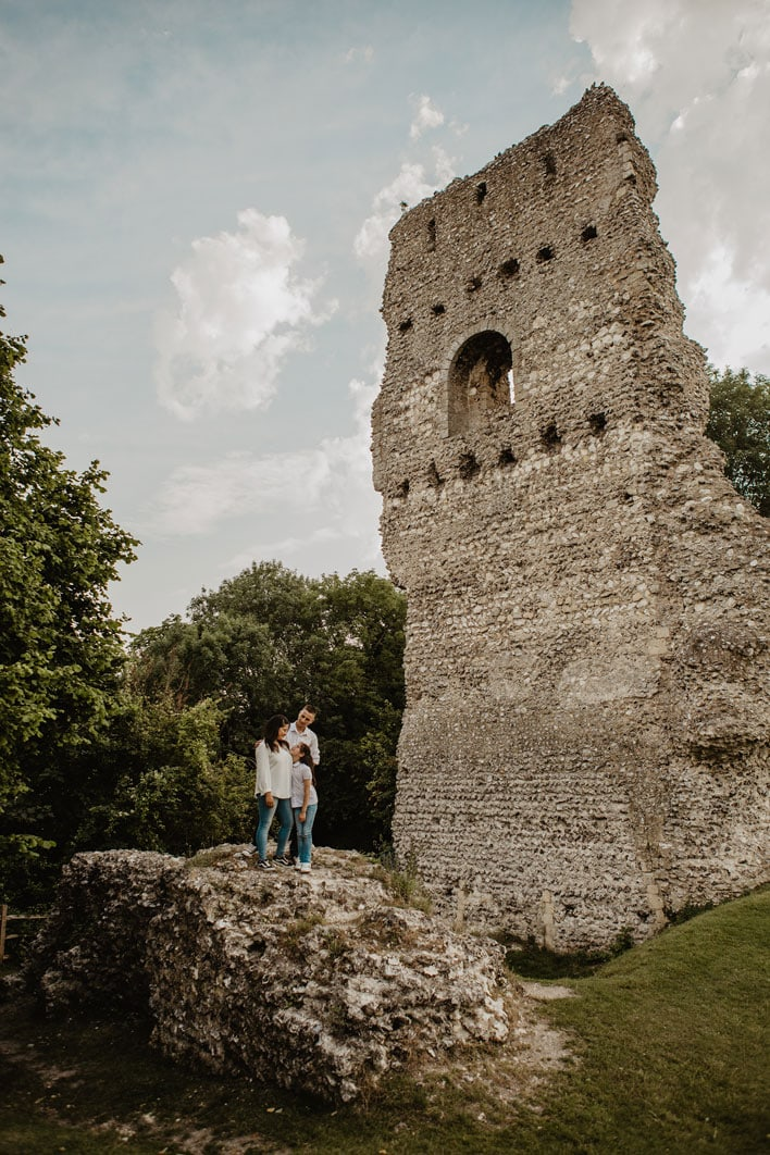 Steyning Engagement Photography Bramber Castle 15