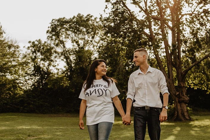 Steyning Engagement Photography Bramber Castle 17